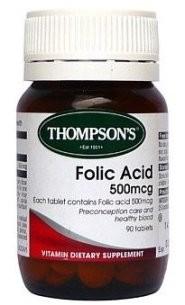 Thompsons Folic Acid Tablets
